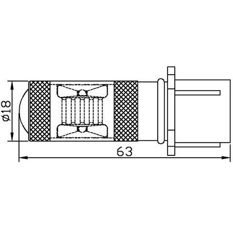 Протитуманна LED лампа UP-7G-P13WB-30W (біла, 12-24 В) Прев'ю 1
