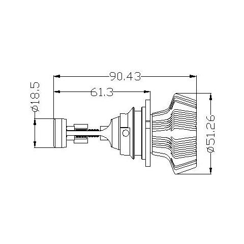 Набір світлодіодного головного світла UP-7HL-9007W-4000Lm (9007, 4000 лм, холодний білий) Прев'ю 4