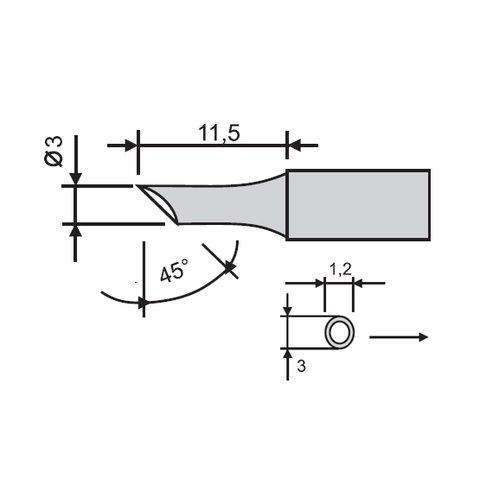 Soldering Iron Tip GOOT RX-80HRT-3CD Preview 1
